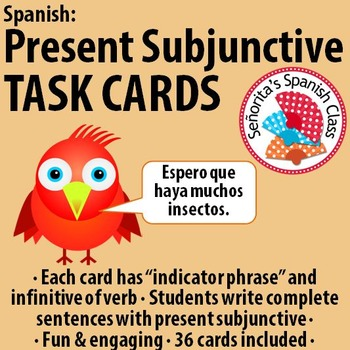 Spanish - Present Subjunctive TASK CARDS