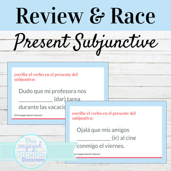 Spanish Present Subjunctive Tense Guided Notes and Word Race Activity