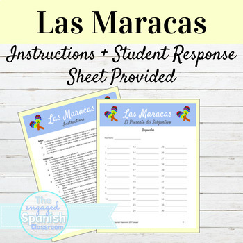 Spanish Present Subjunctive Maracas Activity