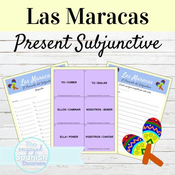Spanish Present Subjunctive Tense Maracas game: El Present