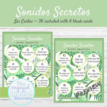 Spanish Present Subjunctive Tense Sonidos Secretos Speaking Activity