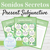 Spanish Present Subjunctive Sonidos Secretos Speaking Activity
