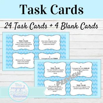 Spanish Present Subjunctive Tense Task Cards