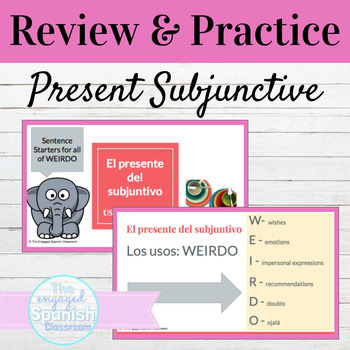 Spanish Present Subjunctive Tense WEIRDO Review and Writing Activity