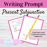 Spanish Present Subjunctive Tense Writing Prompt with Impersonal Expressions