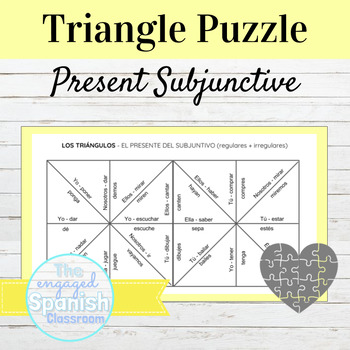 Spanish Present Subjunctive Tense Puzzle