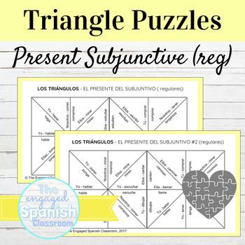 Spanish Present Subjunctive Tense (el subjuntivo) Conjugation Puzzles