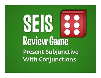 Spanish Present Subjunctive With Conjunctions Seis Game