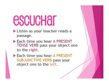 Spanish Present Subjunctive With Conjunctions Tactile Activity