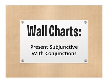 Spanish Present Subjunctive With Conjunctions Wall Charts