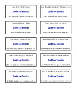 Spanish Present Subjunctive With Doubt and Emotion Circle Puzzle