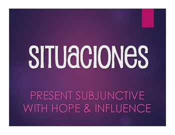 Spanish Present Subjunctive With Hope and Influence Situations