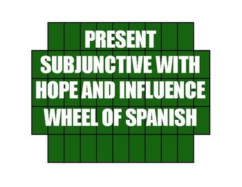 Spanish Present Subjunctive With Hope and Influence Wheel of Spanish