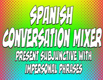 Spanish Present Subjunctive With Impersonal Phrases Conversation Mixer