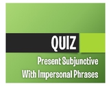 Spanish Present Subjunctive With The Unknown Quiz