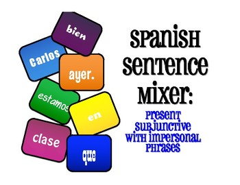 Spanish Present Subjunctive With Impersonal Phrases Sentence Mixer