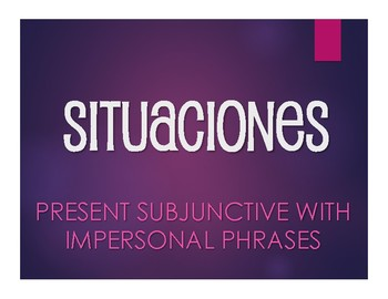 Spanish Present Subjunctive With Impersonal Phrases Situations