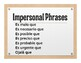 Spanish Present Subjunctive With Impersonal Phrases Wall Charts