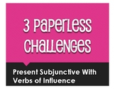 Spanish Present Subjunctive With Hope and Influence Paperl