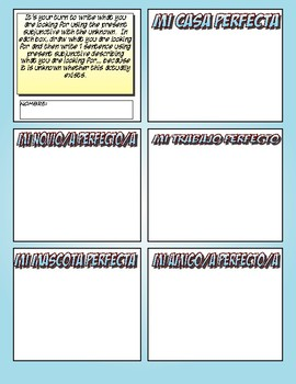Spanish Present Subjunctive With the Unknown Cartoon Activities