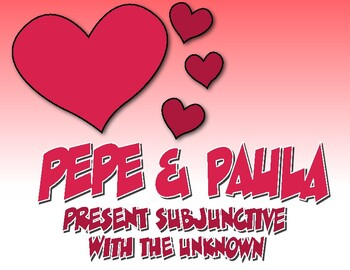 Spanish Present Subjunctive With the Unknown Pepe and Paula Reading