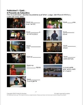 """Spanish – Present Subjunctive in 2 TV ads – BUNDLE of """"Ojalá…""""(1 and 2)"""