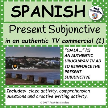 Spanish – Present Subjunctive in an authentic TV ad