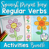 Spanish Present Tense Regular Verbs Activities and Bulletin Board Bundle