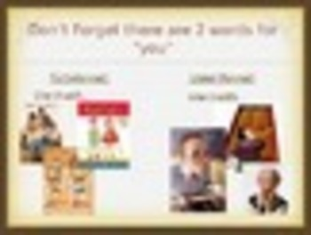 Spanish Present Tense -AR Regular Verbs Keynote Slideshow for Mac