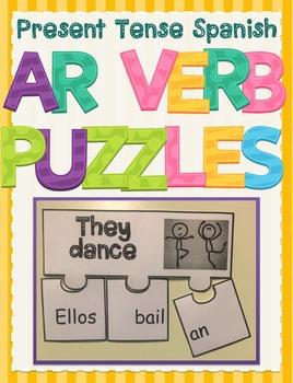 Regular Spanish Present Tense AR Verb Conjugation Activity