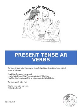 Spanish Present Tense AR Verbs - Practice Worksheets and Readings
