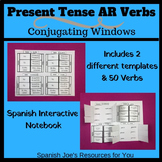 Spanish Present Tense AR Verbs Conjugation Interactive Not