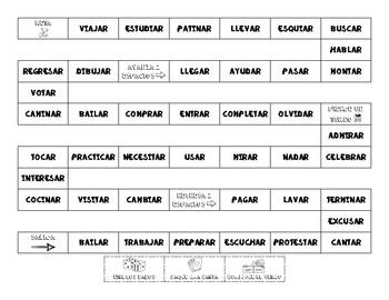 Spanish - Present Tense - AR Verbs - Game