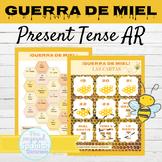 Spanish Present Tense AR Verbs Game GUERRA DE MIEL | Writi