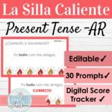 EDITABLE Spanish Present Tense AR Verbs Hot Seat Game   La