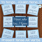 Spanish Present Tense AR Verbs I have...who has...? Game