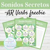 Spanish Present Tense AR Verbs Sonidos Secretos Speaking Activity