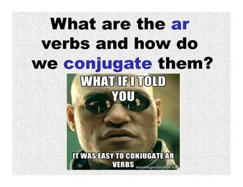 Spanish Present Tense Ar Verb Conjugation PPT