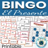 Spanish Present Tense Game BINGO