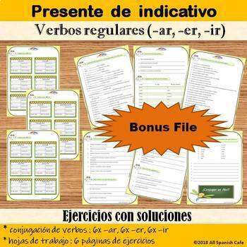 Spanish Present Tense Bundle: Regular Verbs