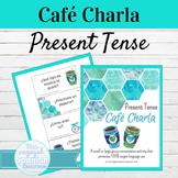 Spanish Present Tense Speaking Activity  | Café Charla El