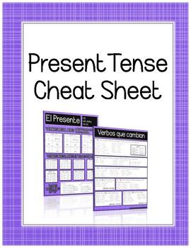 Spanish Present Tense Cheat Sheet
