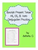 Spanish Present Tense Conjugation Practice