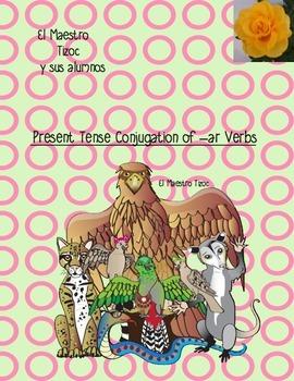 Spanish Present Tense Conjugation of Regular -ar Verbs 1