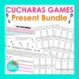 Present Tense Cucharas BUNDLE   Regular Verbs Only   Spani