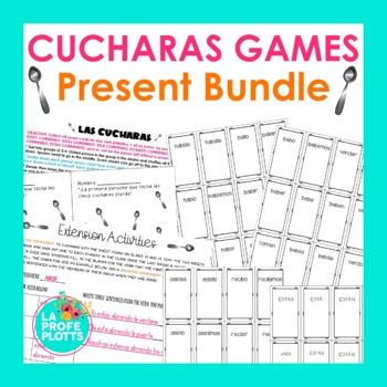 Spanish Present Tense ¡Cucharas! BUNDLE (Regular Verbs Only)