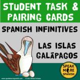 Spanish Present Tense Double Verbs Task & Pairing Cards. Islas Galápagos Theme