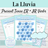 Spanish Present Tense ER and IR Verbs La Lluvia Activities