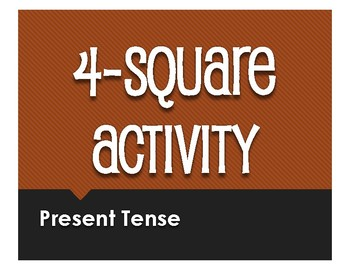 Spanish Present Tense Four Square Activity