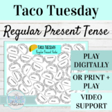Spanish Present Tense Regular Verbs Taco Tuesday Game | Di